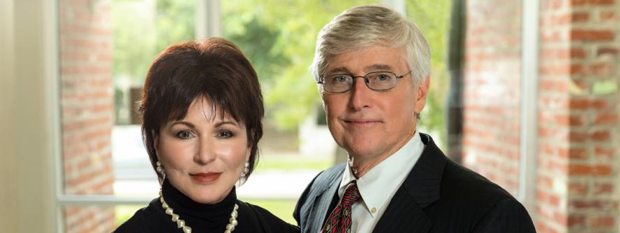 """Carolyn Doerle and Dr. William C. """"Kip"""" Schumacher are the 2019 Leaders In Philanthropy Award honorees for Lafayette Parish"""